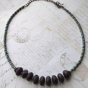 Jewelry - Stone & Glass Bead Necklace